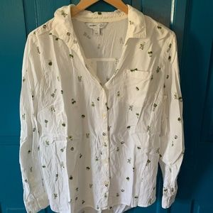 Old Navy Classic Button-Down Succulent Top